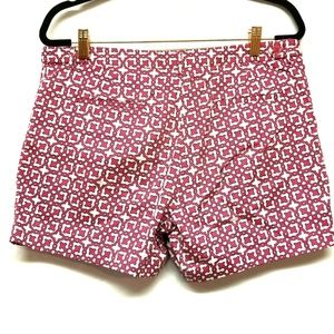 Laundry By Shelli Segal Shorts - Laundry by Shelli Segal Pink/Navy Patterned Shorts